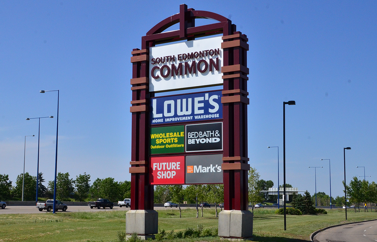 Shopping Centre Commercial Signage Edmonton