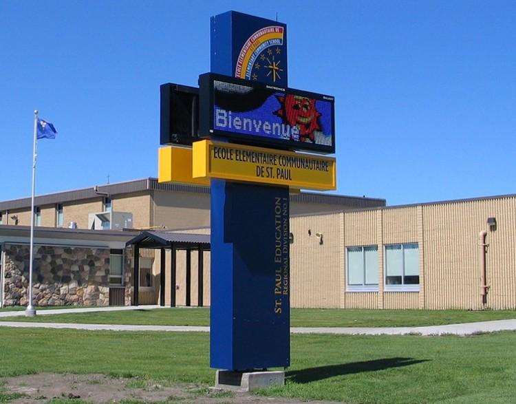 Alberta school signage