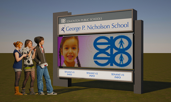 Edmonton Public Schools Electronic School Sign