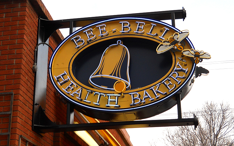 Bee Bell Bakery Neon Sign Edmonton