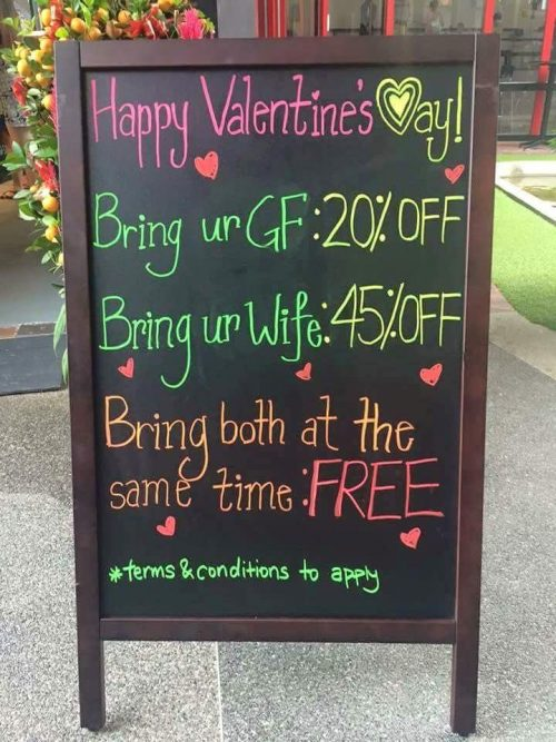 Funny Valentines Signs