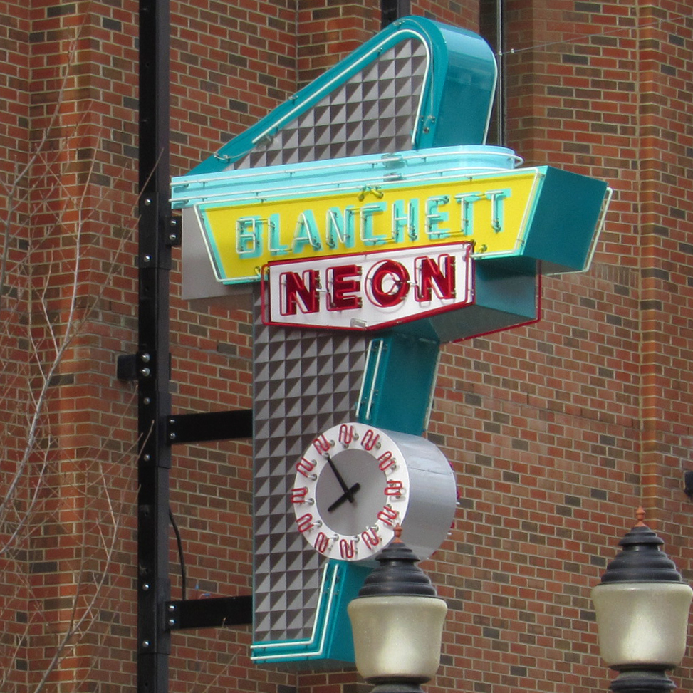 Blanchett Neon Edmonton Retro Sign