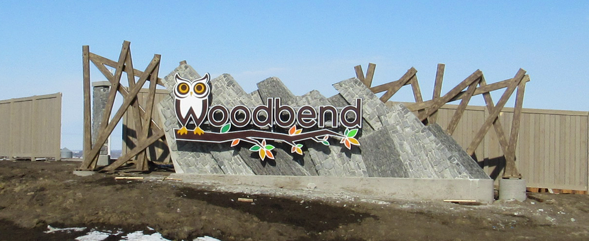 Woodbend Custom Entrance Sign Leduc