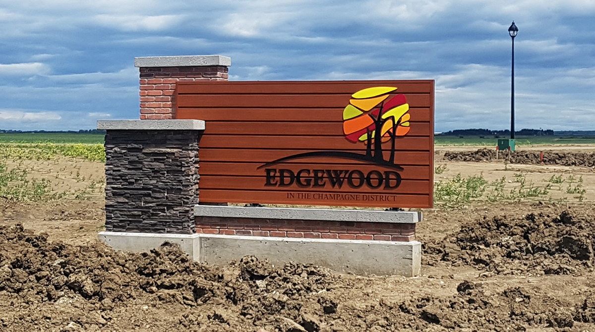 Edgewood Entrance Sign Edmonton