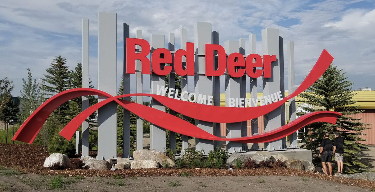 Custom Metal Signage - Red Deer Entry Features