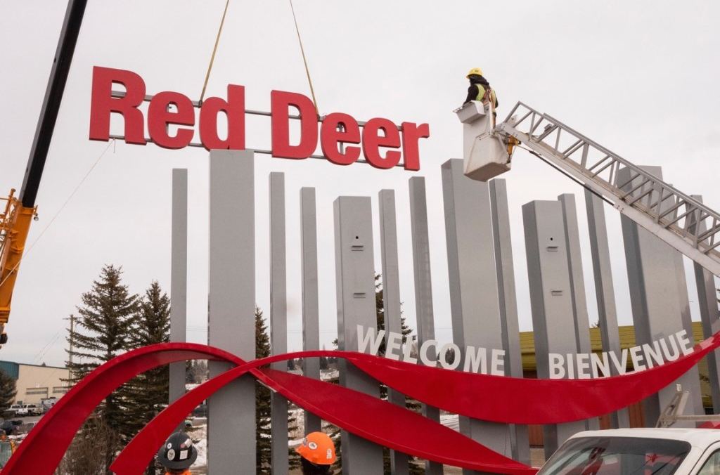 Red Deer Freestanding Sign Installation - Sign Industry Awards